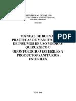 Manual de Buenas Practicas de Almacenamiento de Insumos Medicos