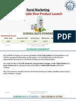 TERMIV_Rural Marketing_Non-Durable New Product Launch_Subhra Bath Powder_Gr9