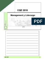 CQE- Mangement y Liderazgo 2010