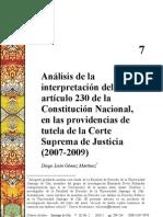 Analisis de La Interpretacion Del Art 230 de CN