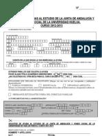 Impreso de Becas Junta 2012-13