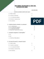 Instructivo Para Calificar Cuestionario Estilos de Vida
