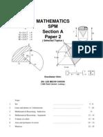 Teknik Menjawab Matematik Spm