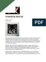 Duncan Sheik Press Clippings 3.10.09 Report - Tour Press