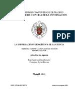 [ GARCÍA, J. ] --- (TD) LA INFORMACIÓN PERIODÍSTICA DE LA CIENCIA  --NP