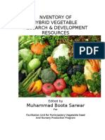 INVENTORY OF HYBRID VEGETABLE  RESEARCH & DEVELOPMENT RESOURCES