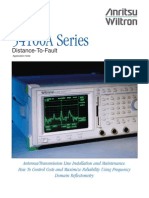 54100A Series Distance-To-Fault Application Note