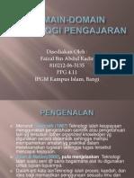 Domain-domain Teknologi Pengajaran