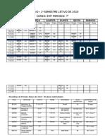 HORARIO EMT 1º semestre - 2013 7º periodo