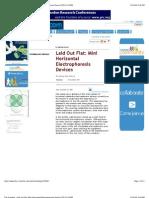 The Scientist _ Laid Out Flat_ Mini Horizontal Electrophoresis Devices [23!11!1998]