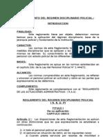 Reglamento Régimen Disciplinario Policial N° 2997-72