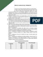 Informe de Calibracion Del Termometro