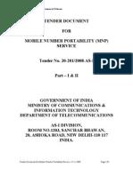 Mnp Tender Document Final 25.11.2008
