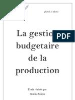 La Gestion Budgetaire de La Production