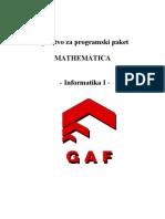 Mathematica - Uputstvo GAF