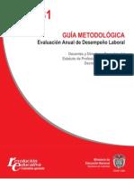Guía No. 31 Guía Metodológica Evaluación Anual de Desempeño Laboral