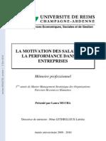 Memoire Sur La Motivation