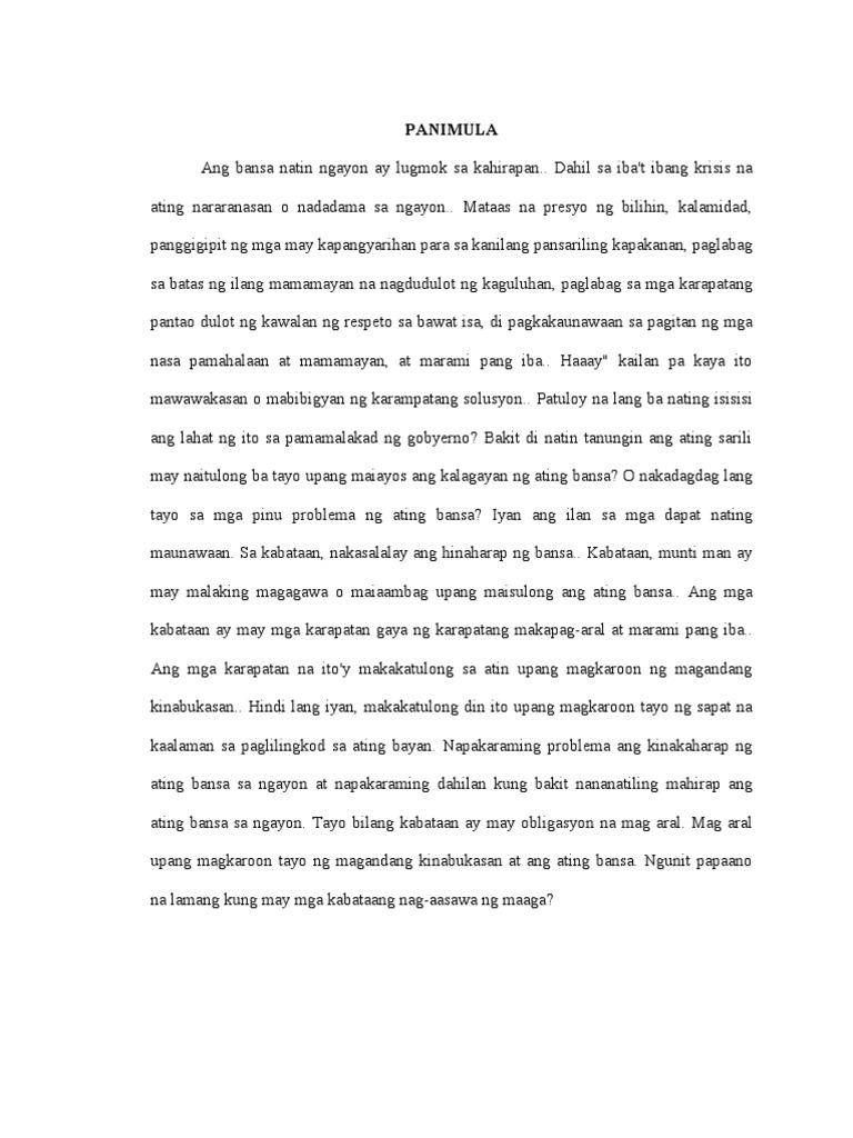 epekto ng maagang pag aasawa thesis