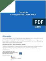 MODELO CRACHÁ CAIXA AQUI