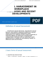 Sexual Harassment in Workplace