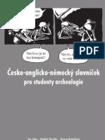 Česko-anglicko-německý slovníček pro studenty archeologie