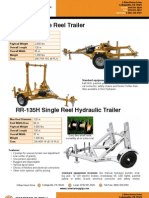Cable Reel Trailers - Hydraulic Trailer - Innerduct Trailer