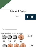 Daily Math Reviewmoney