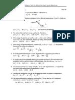 Statistical Mechanics TEST Questions