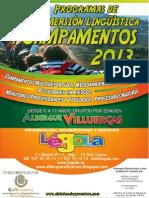 Díptico Campamentos 2013