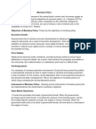 Monetary Policy Work Paper