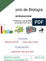 Clase 1. Bioseguridad Laboratorio de Biologia