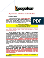 Regulamento Oficial Do Leopoker 2013
