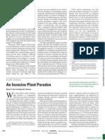 An Invasive Plant Paradox