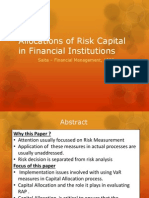 Allocations of Risk Capital in Financial Institutions