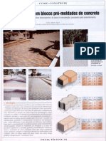 Pavimentação com blocos pré-moldados de concreto