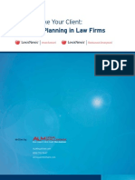 ALM Report Strategic Planning in Law Firms