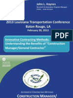 S56_Innovative Contracting Methods Learn What the Construction ManagerGeneral Contractor Project Delivery Method is and How It Applies to Louisiana_LTC2013