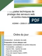 Techniques de Piratage Des Serveurs Web Et Contre-mesures