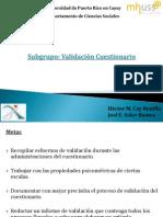 Presentacion subgrupo validación cuestionario