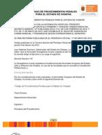 CÓDIGO DE PROCEDIMIENTOS PENALES PARA EL ESTADO DE CHIAPAS  17Mayo2012