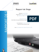 Rapport de Stage - Lauréats Informatique