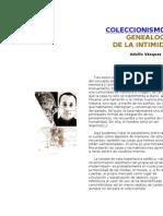 COLECCIONISMO Y GENEALOGÍA DE LA INTIMIDAD
