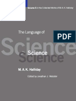 MAK Halliday the Language of Science