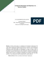 Gestão de Tecnologia da Informação nas Empresas e no Governo Federal