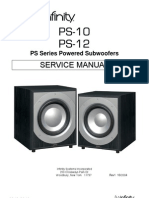 Infinity Ps-10 12 Service manual