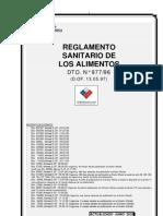 Chile Reglamento Sanitario Alimentos