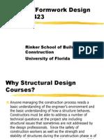 Timber Formwork Design