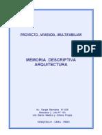 012008 - Memoria Edificio ( Arquitectura )