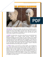 Julius Caesar Timeline by Donnette Davis, St Aiden's Homeschool