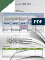 Calendar Scolar 2012 2013